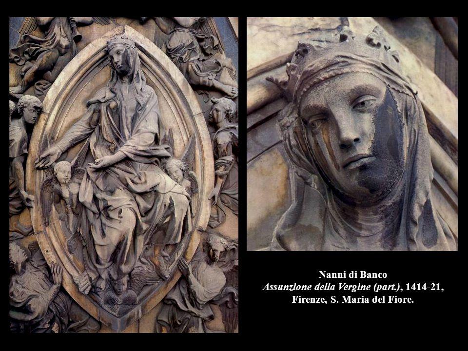 Nanni di Banco Assunzione della Vergine (part. ), 1414-21, Firenze, S