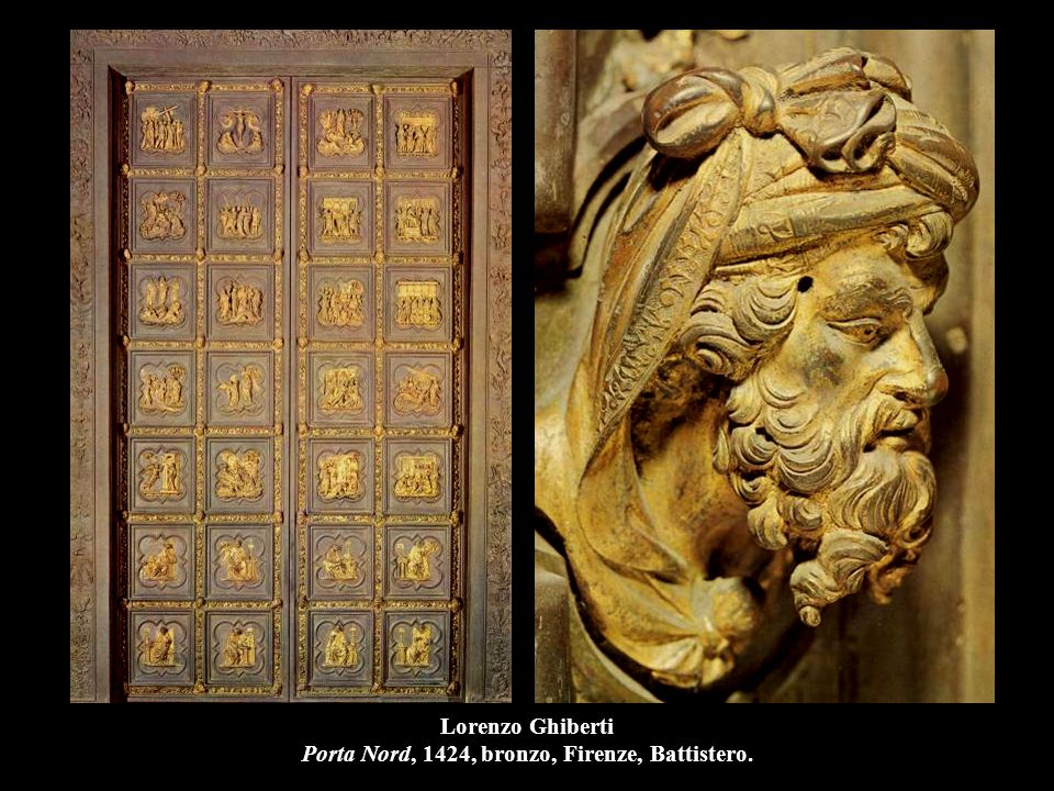 Lorenzo Ghiberti Porta Nord, 1424, bronzo, Firenze, Battistero.