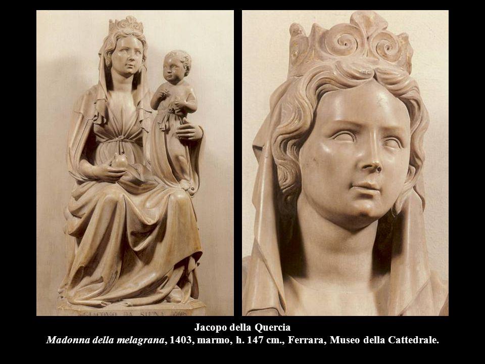 Jacopo della Quercia Madonna della melagrana, 1403, marmo, h. 147 cm