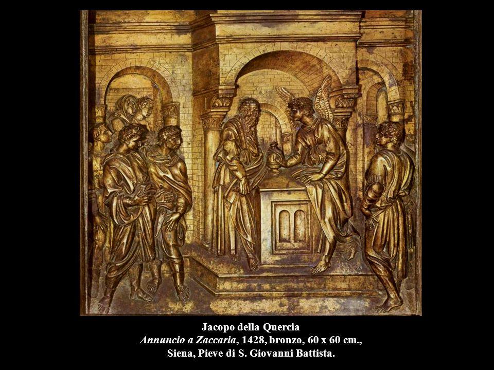 Jacopo della Quercia Annuncio a Zaccaria, 1428, bronzo, 60 x 60 cm