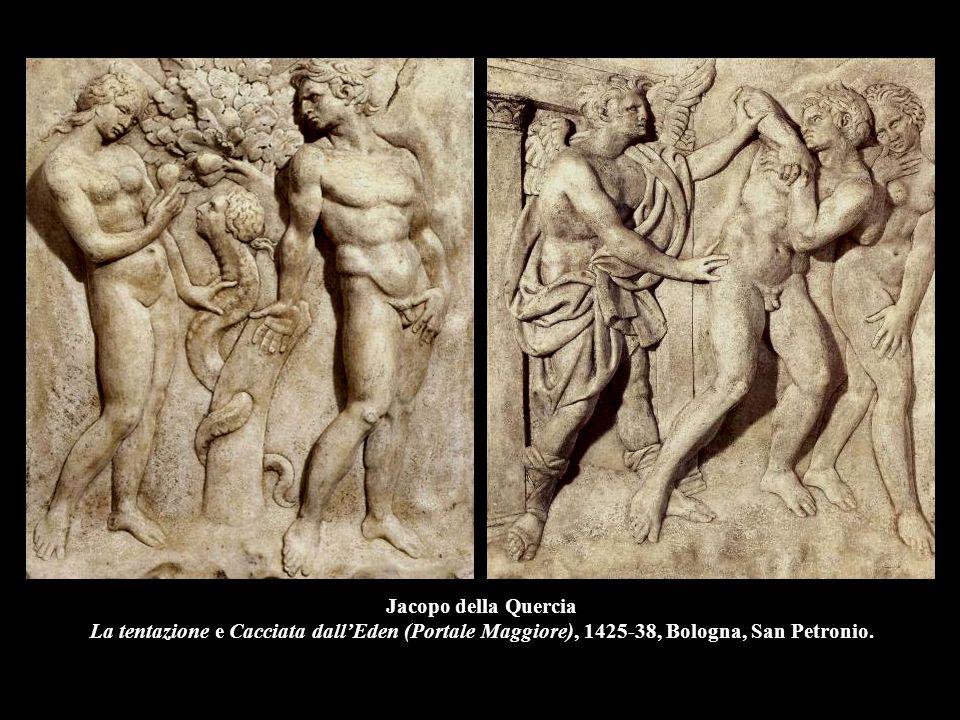 Jacopo della Quercia La tentazione e Cacciata dall'Eden (Portale Maggiore), 1425-38, Bologna, San Petronio.