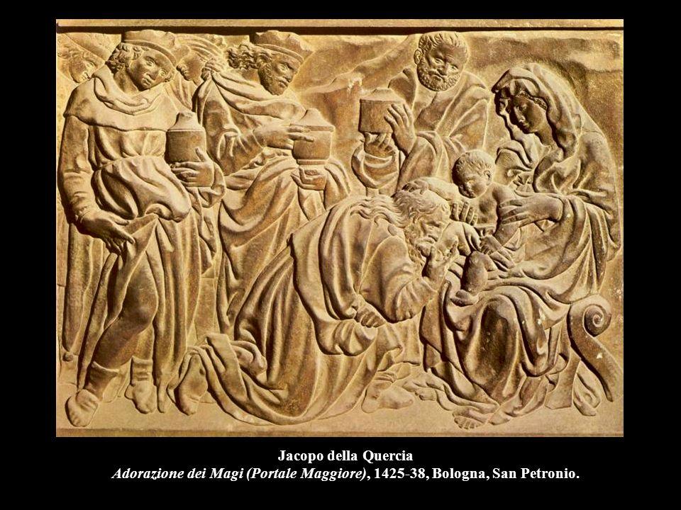 Jacopo della Quercia Adorazione dei Magi (Portale Maggiore), 1425-38, Bologna, San Petronio.