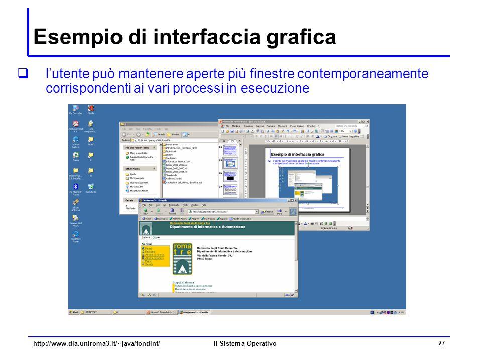 Esempio di interfaccia grafica