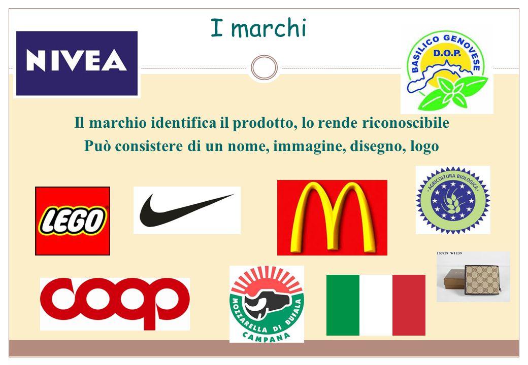 I marchi Il marchio identifica il prodotto, lo rende riconoscibile