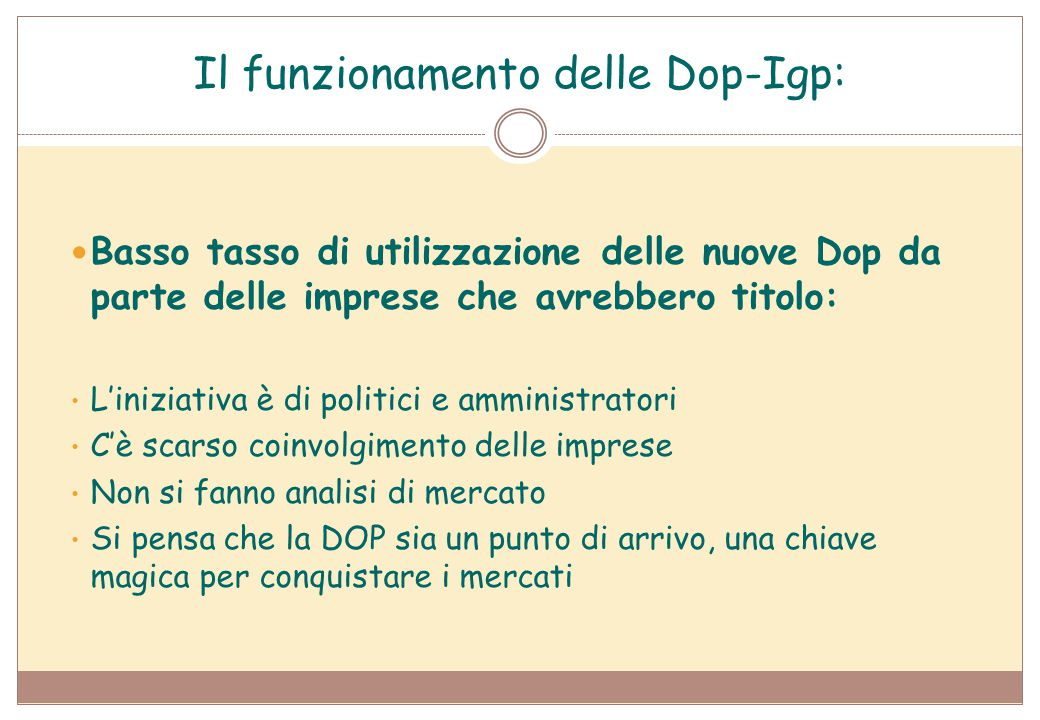 Il funzionamento delle Dop-Igp: