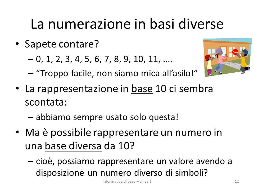 La numerazione in basi diverse