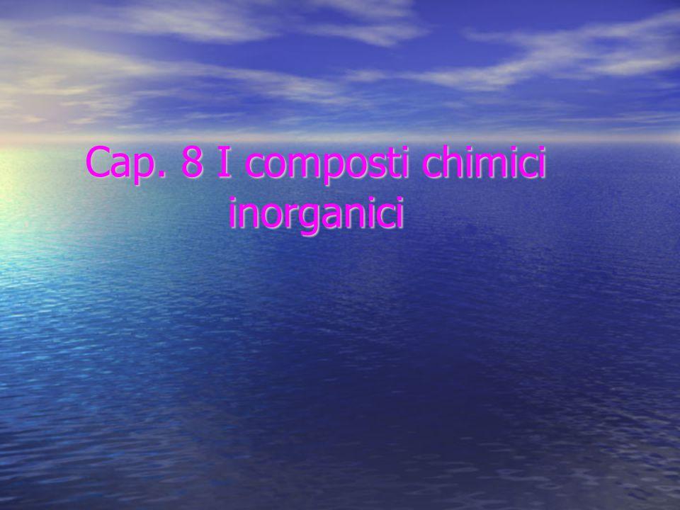 Cap. 8 I composti chimici inorganici