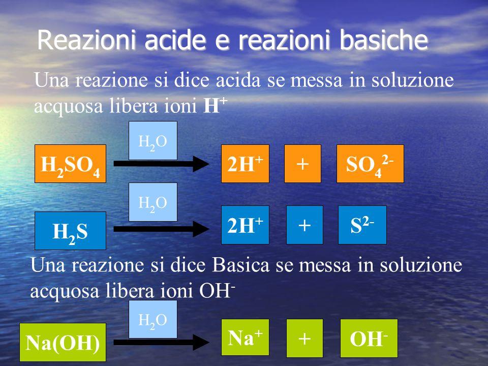 Reazioni acide e reazioni basiche