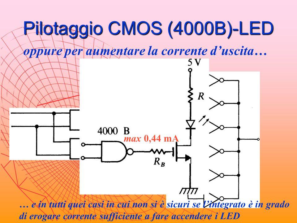 Pilotaggio CMOS (4000B)-LED