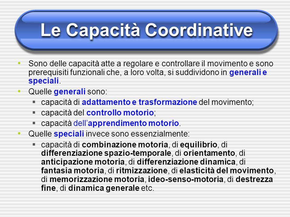 Le Capacità Coordinative