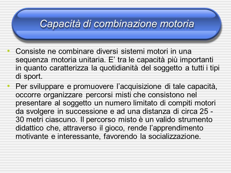 Capacità di combinazione motoria