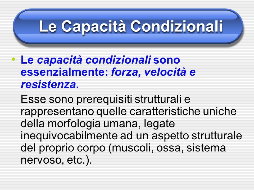 Le Capacità Condizionali