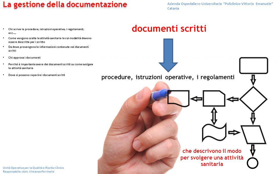 documenti scritti La gestione della documentazione