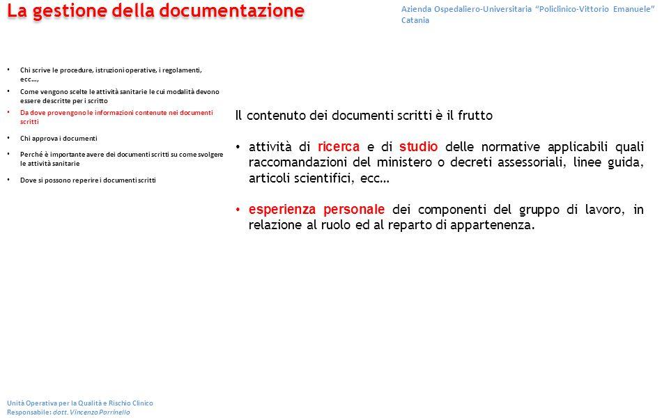La gestione della documentazione