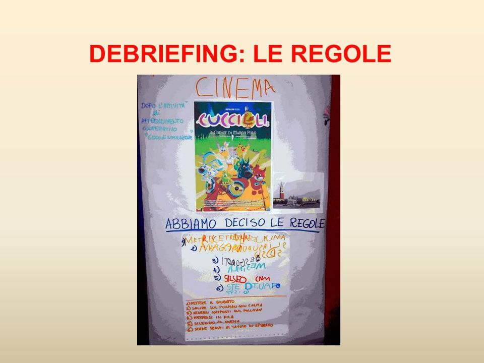 DEBRIEFING: LE REGOLE 19
