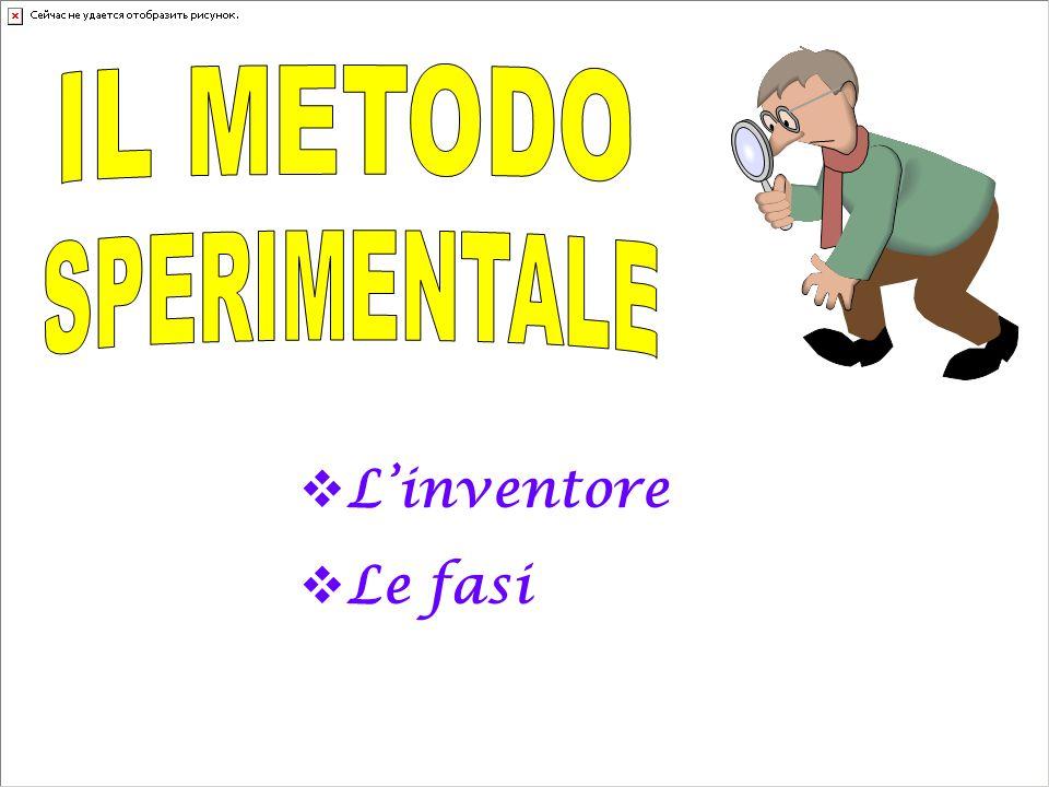 IL METODO SPERIMENTALE L'inventore Le fasi