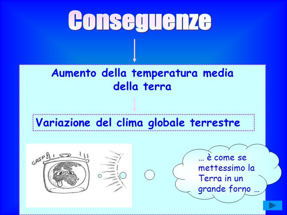 Aumento della temperatura media della terra