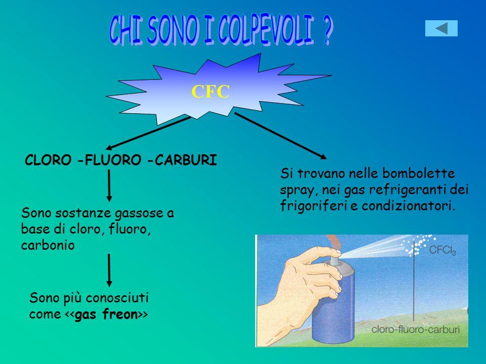 CHI SONO I COLPEVOLI CFC CLORO -FLUORO -CARBURI