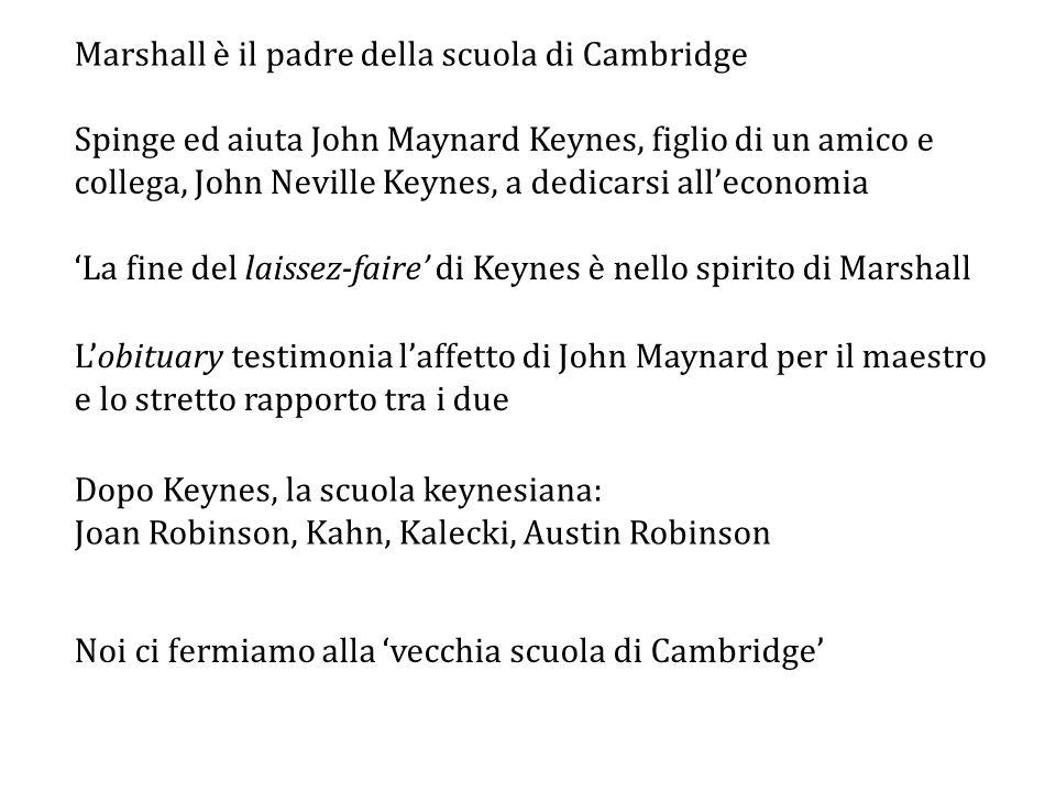 Marshall è il padre della scuola di Cambridge