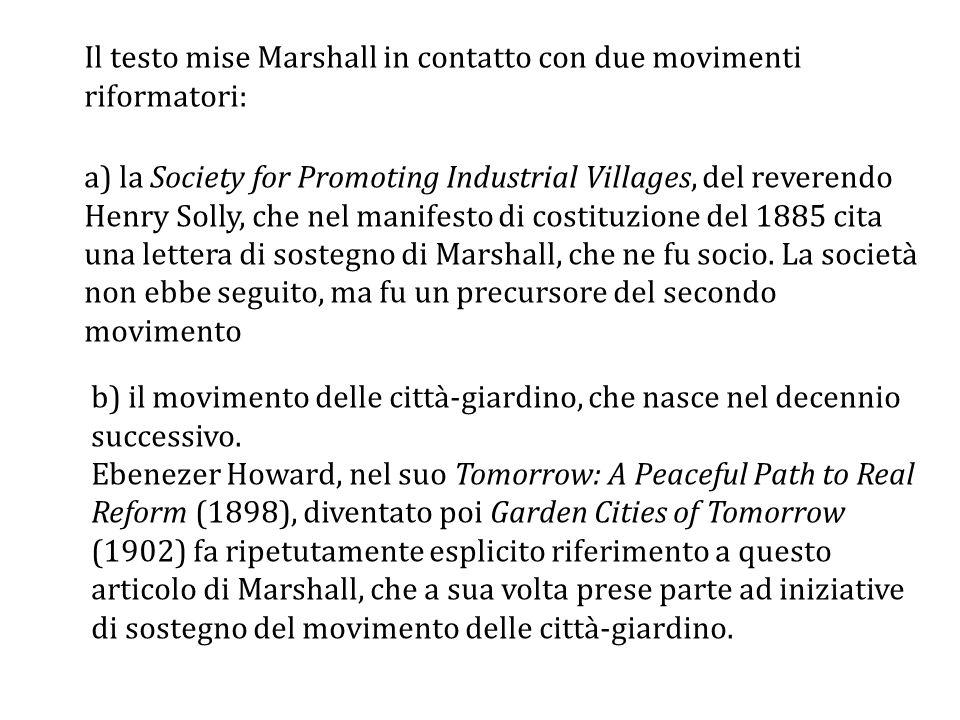 Il testo mise Marshall in contatto con due movimenti riformatori:
