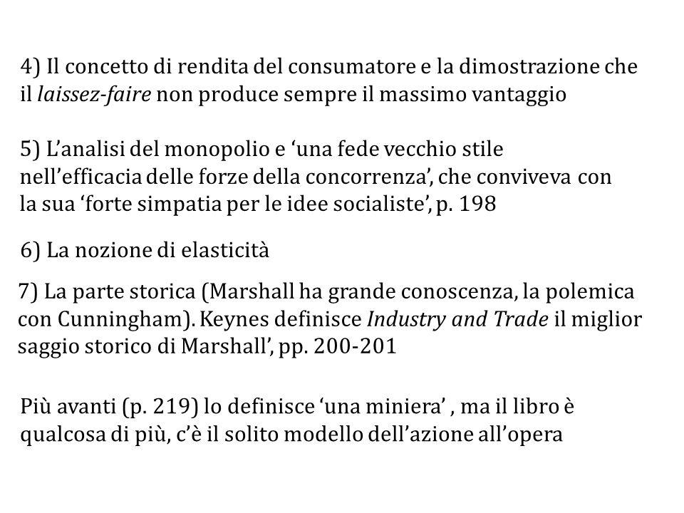4) Il concetto di rendita del consumatore e la dimostrazione che il laissez-faire non produce sempre il massimo vantaggio