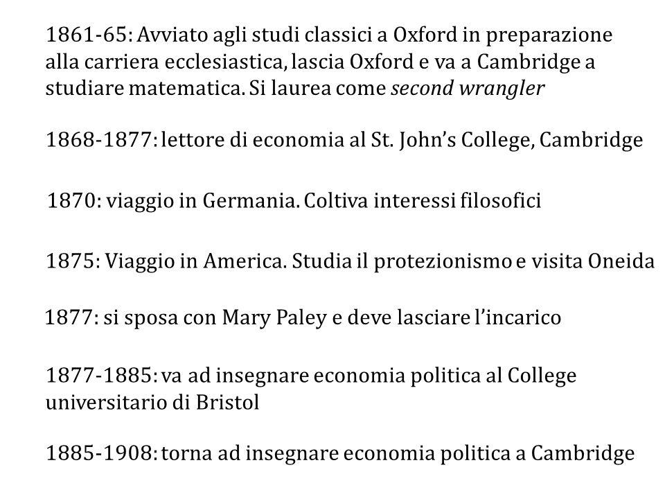 1868-1877: lettore di economia al St. John's College, Cambridge