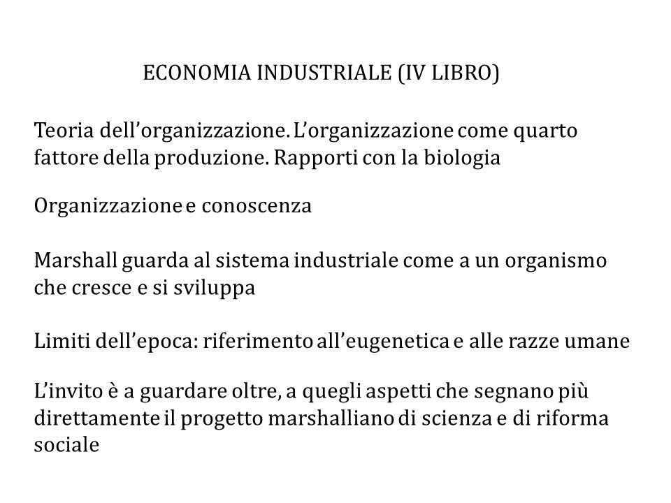 ECONOMIA INDUSTRIALE (IV LIBRO)