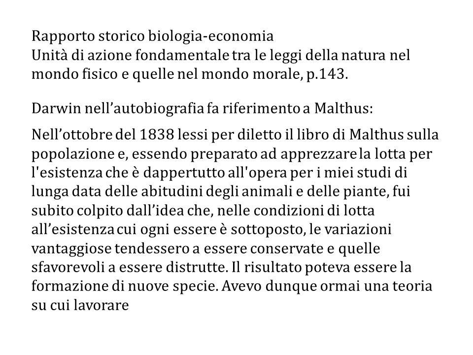 Rapporto storico biologia-economia