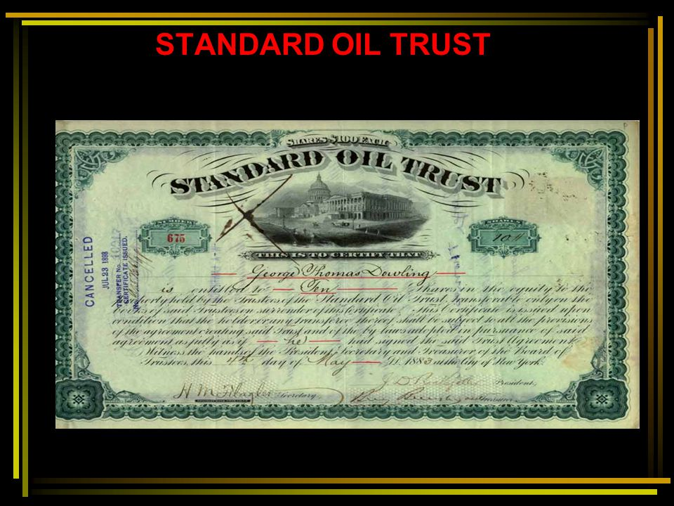 STANDARD OIL TRUST