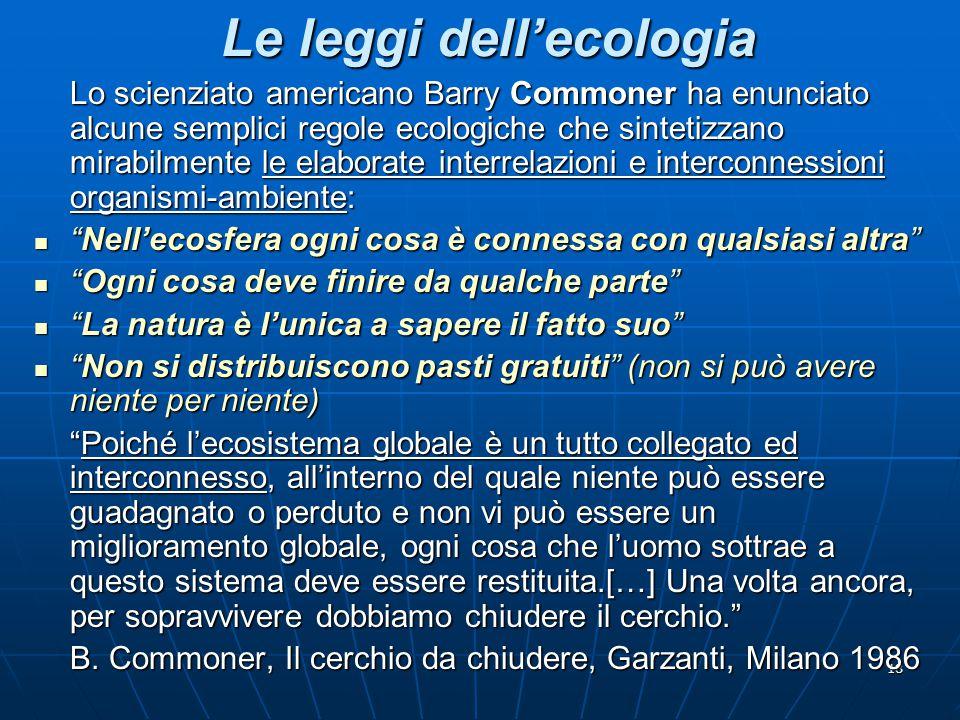 Le leggi dell'ecologia
