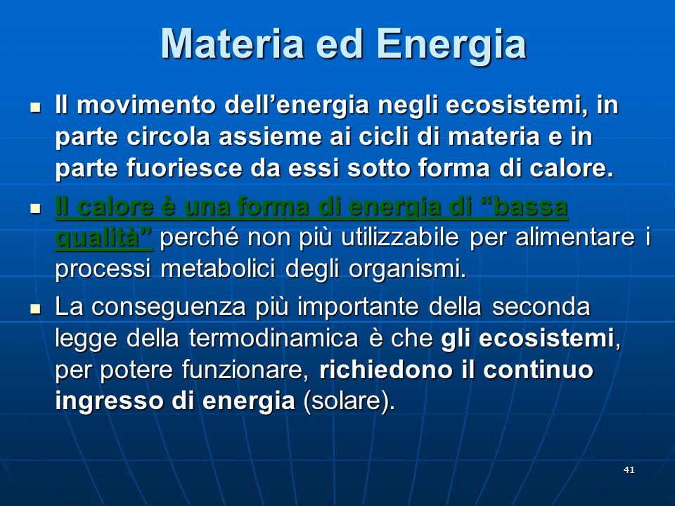 Materia ed Energia