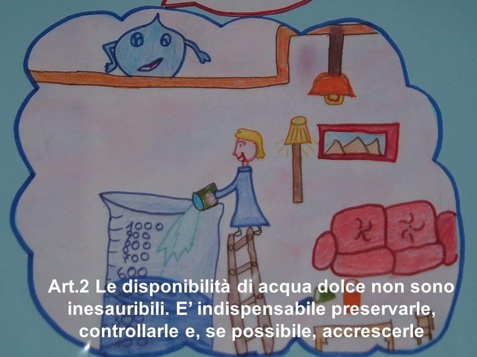 Art. 2 Le disponibilità di acqua dolce non sono inesauribili