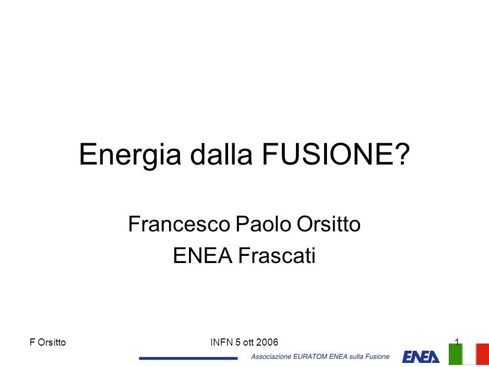 Francesco Paolo Orsitto ENEA Frascati