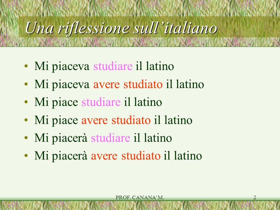Una riflessione sull'italiano