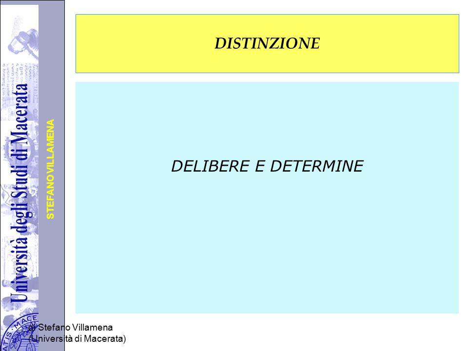 DISTINZIONE DELIBERE E DETERMINE di Stefano Villamena