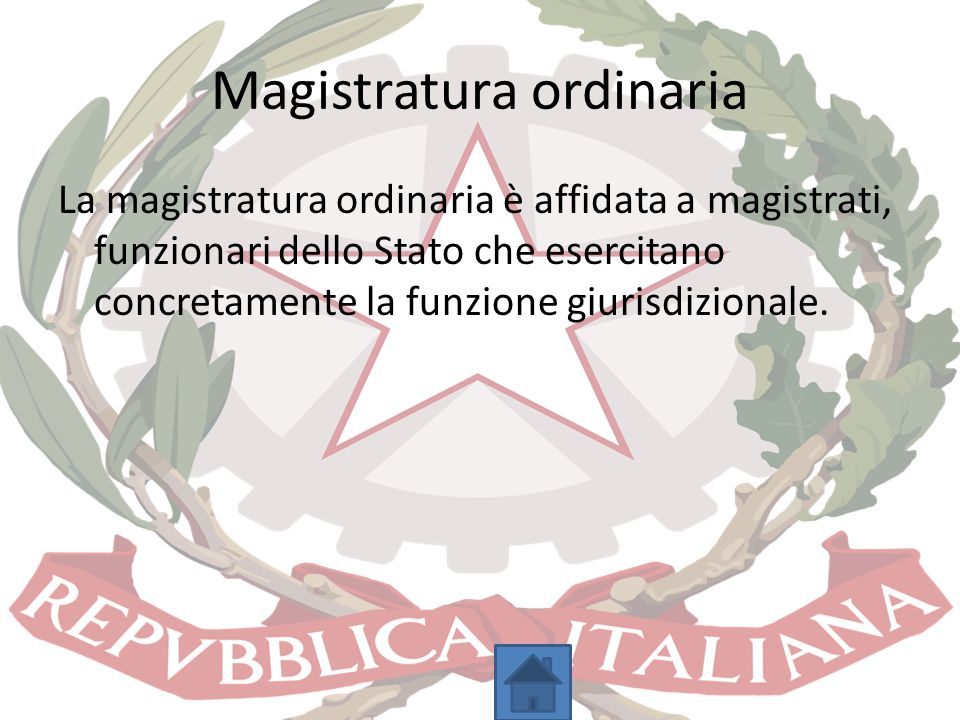 Magistratura ordinaria