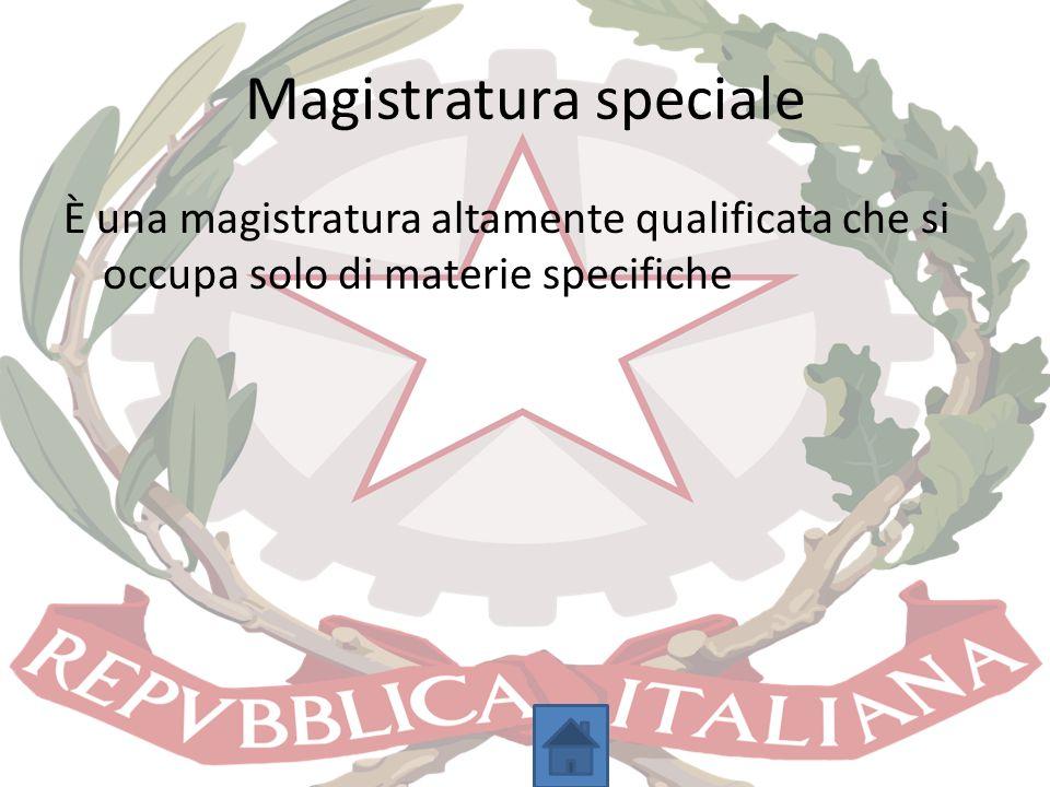 Magistratura speciale
