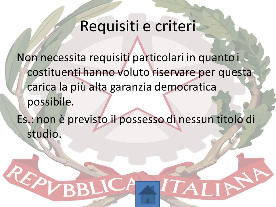 Requisiti e criteri
