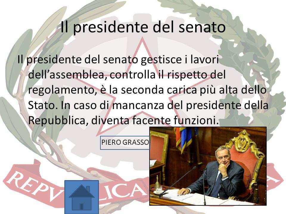 Il presidente del senato