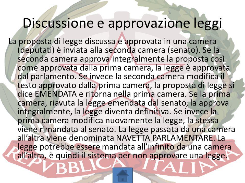 Discussione e approvazione leggi