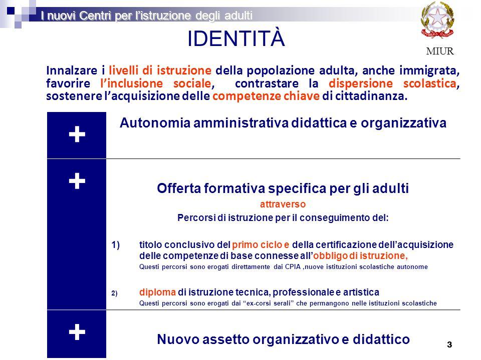 + IDENTITÀ Autonomia amministrativa didattica e organizzativa