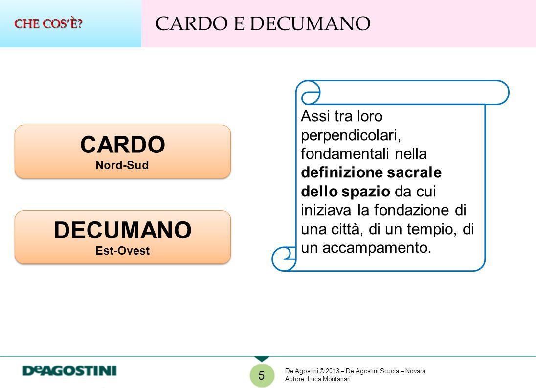 CARDO DECUMANO CARDO E DECUMANO