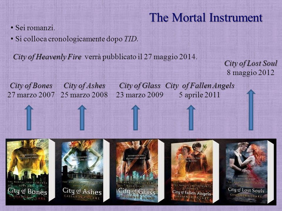 The Mortal Instrument Sei romanzi.
