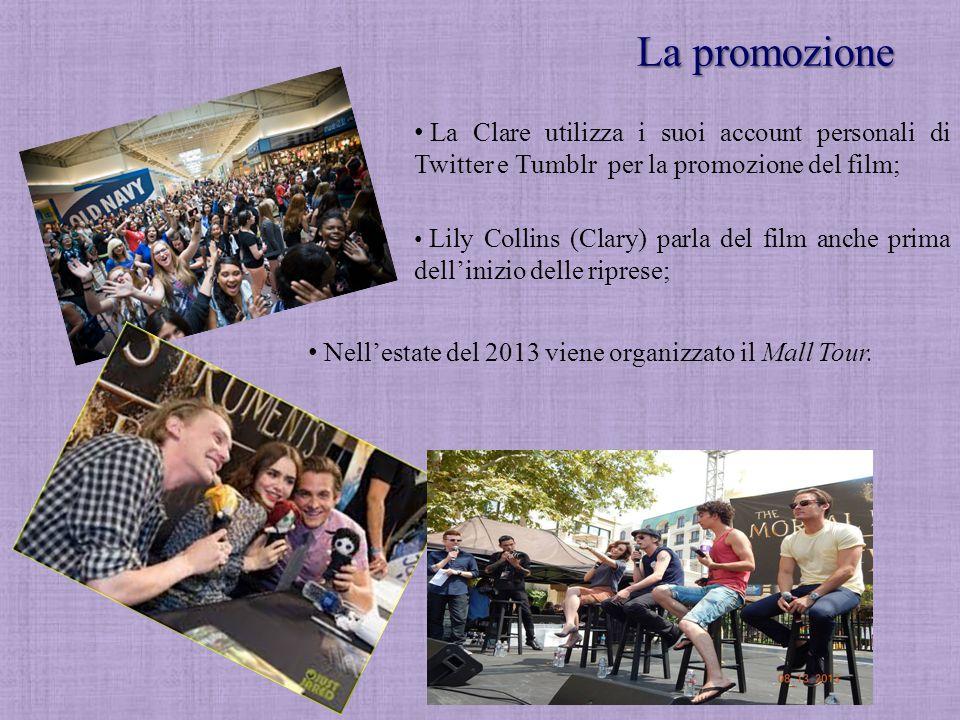 La promozione La Clare utilizza i suoi account personali di Twitter e Tumblr per la promozione del film;
