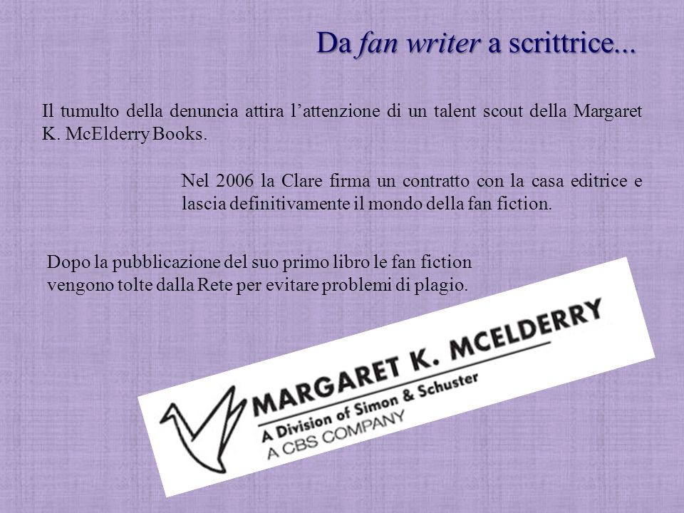 Da fan writer a scrittrice...