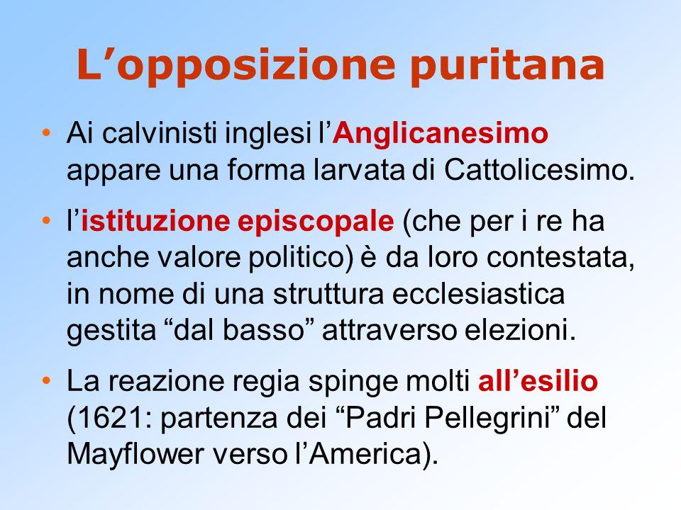 L'opposizione puritana
