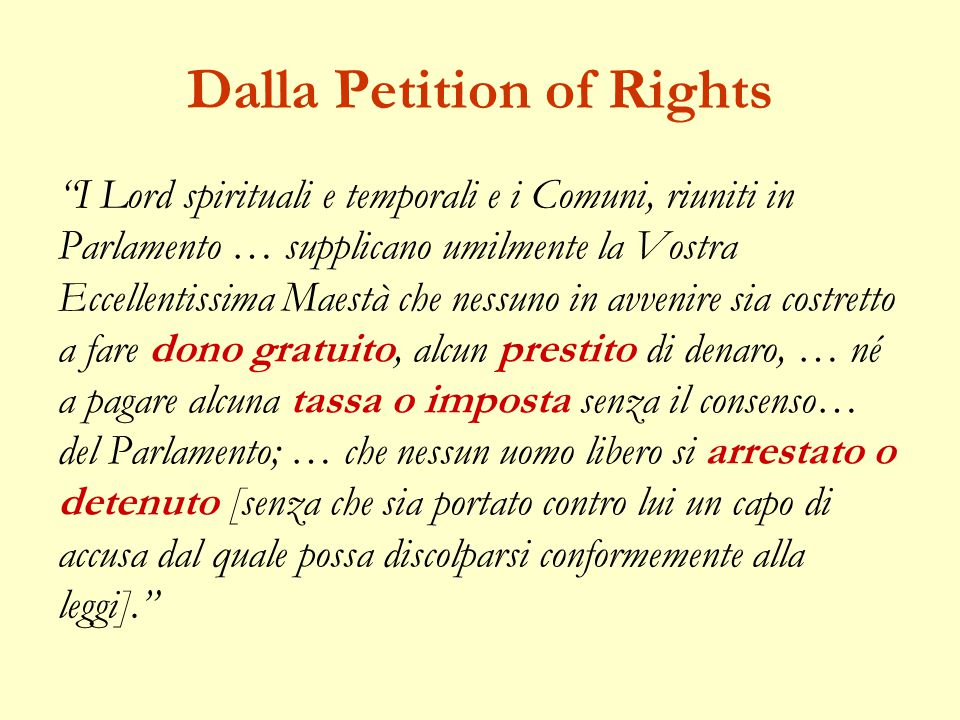 Dalla Petition of Rights
