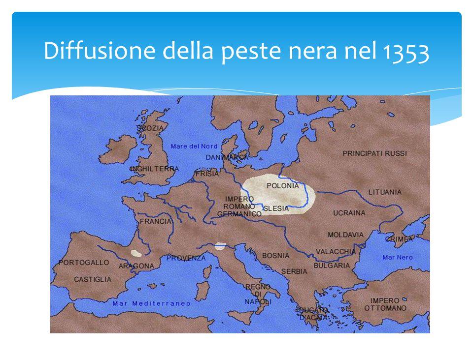 Diffusione della peste nera nel 1353