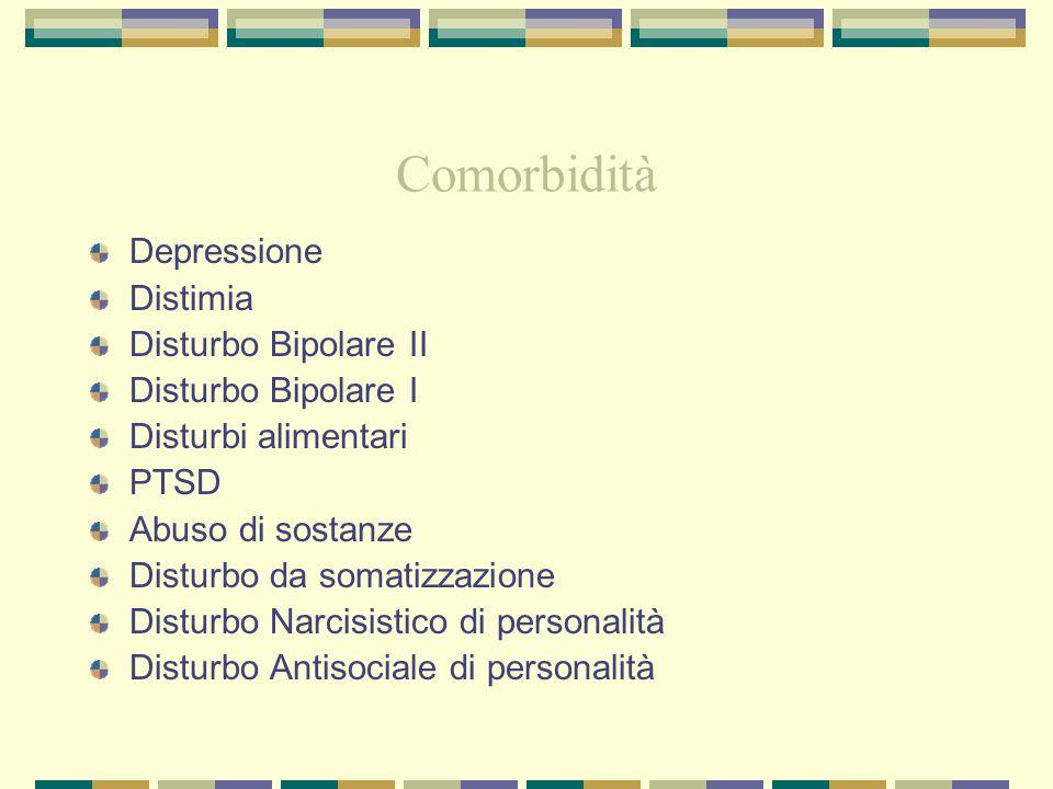 Comorbidità Depressione Distimia Disturbo Bipolare II