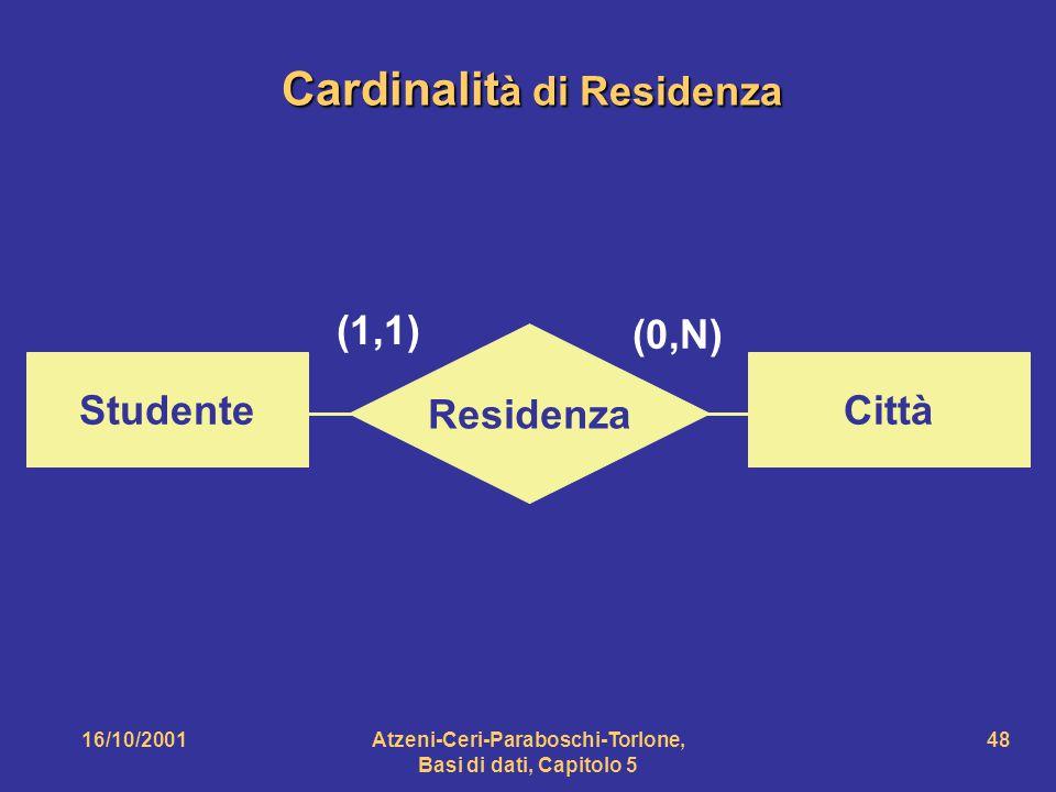 Cardinalità di Residenza